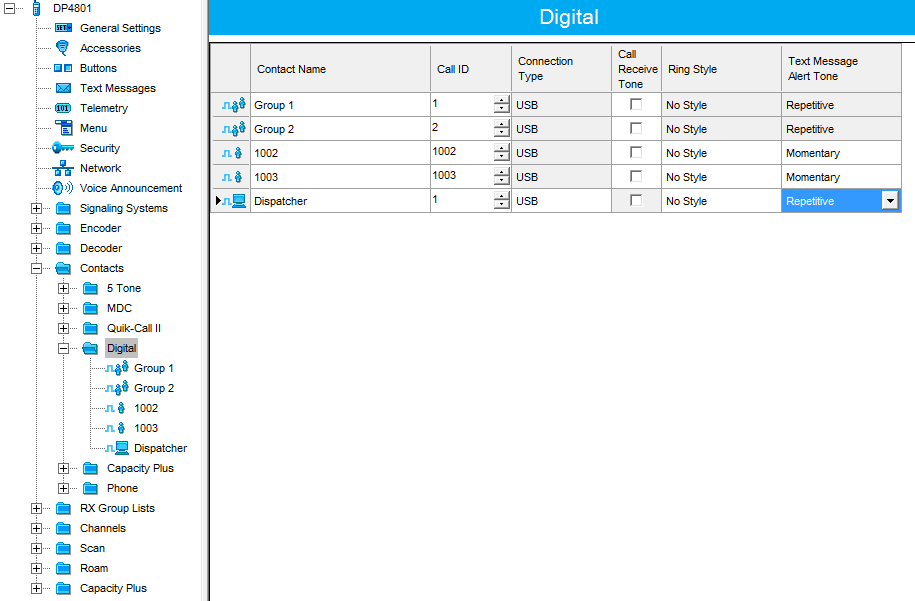 1 7  IP Site Connect Codeplugs Configuration  Subscriber